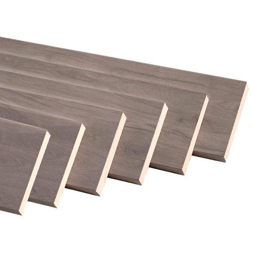 Kit 6 jambas plana mdf roble gris 90 x 10 mm