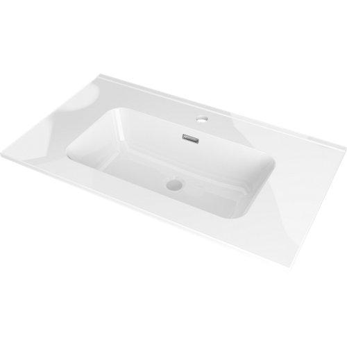 Lavabo mia blanco 101x18x46 cm