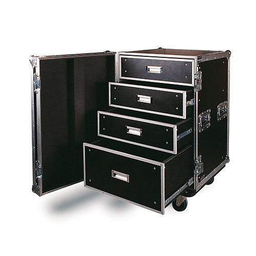 Mueble de transporte flight case frc-261 fonestar negro