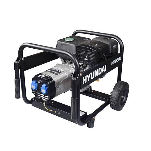 Generador hyundai hyk5500 gasolina sin plomo de 4500 w