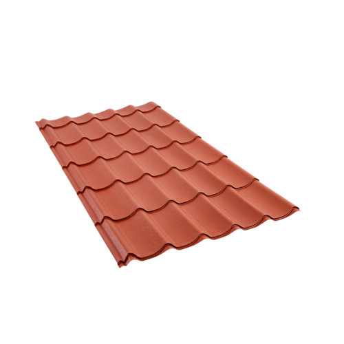 Placa metal teja rooftile 980 rojo 1950x1040 mm