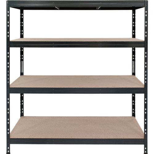 Estantería metálica garaje 180x120x45cm gris texturizada sin tornillos 4b. 360kg