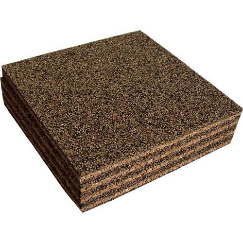 Pack 4 placas antivibración 15x15x1 cm
