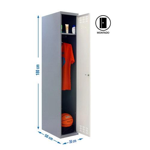 Taquilla single 30 montada 1 columna 1 puerta blanco