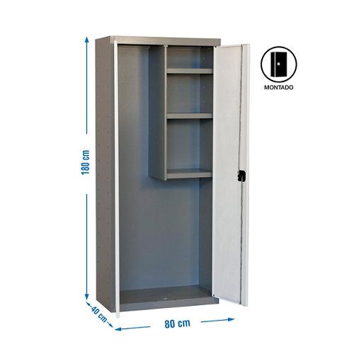 Armario montado cabinet 2 puertas 3 estantes blanco