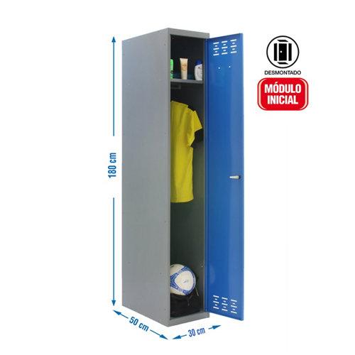 Taquilla desmontada 30 1 columna 1 puerta inicial azul