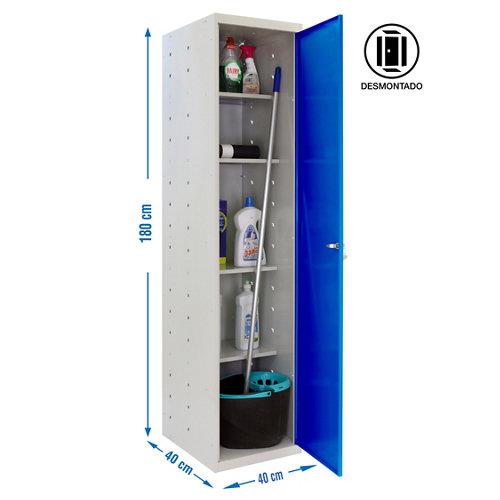 Armario desmontado cabinet 1 puerta 4 estantes 40 azul