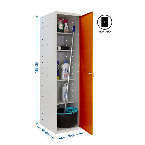 Armario montado cabinet 1 puerta 4 estantes naranja