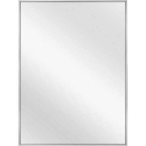 Espejo de baño steamless gris / plata 60 x 80 cm