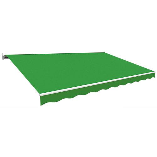 Toldo kronos semicofre rayas verde 300x250 cm