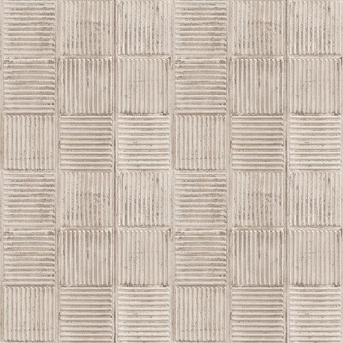 Papel imitación baldosa beige 5,3 m²