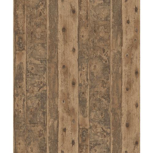 Papel imitación madera marrón 5,3 m²