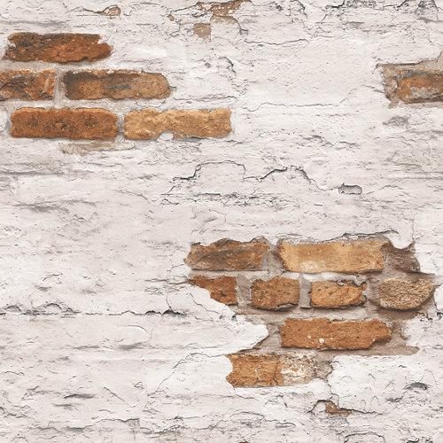 Papel pared ladrillos marrón 5,3 m²