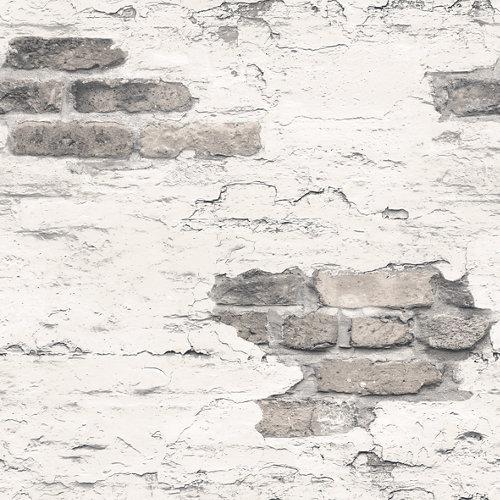 Papel pared ladrillos gris 5,3 m²