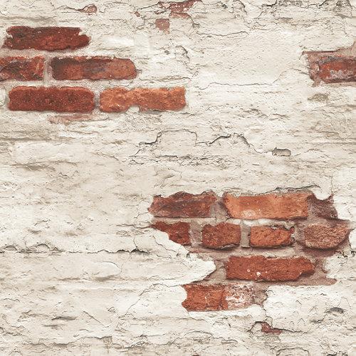 Papel pared de ladrillos marrón 5,3 m²