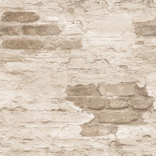 Papel pared ladrillos beige 5,3 m²