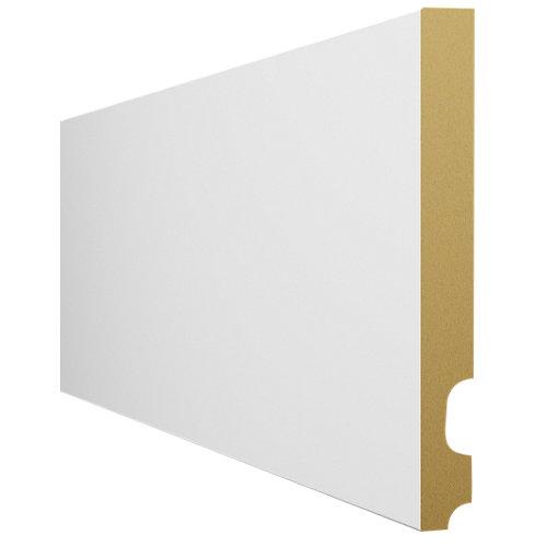 Zócalo liso con pasacable de mdf revestido papel blanco de 2.25 m de longitud