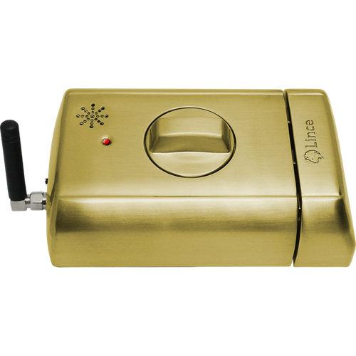 Cerradura eléctrica lince dorado con mando a distancia