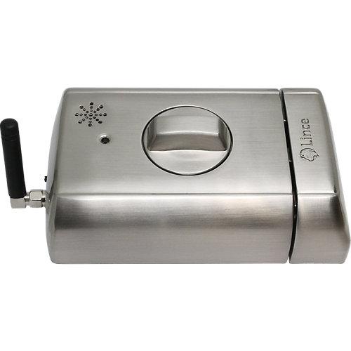 Cerradura eléctrica lince plata con mando a distancia