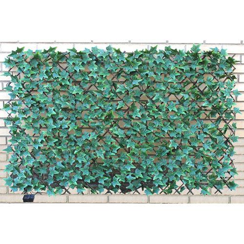 Celosía extensible de polietileno verde 100x150 cm