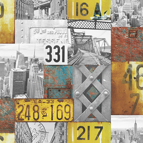 Papel pintado tnt cité diseño 248-5800 multicolor 5 m2
