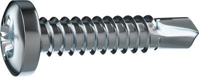18 tornillos metal en acero inoxidable cincado y cabeza redonda y 19 mm