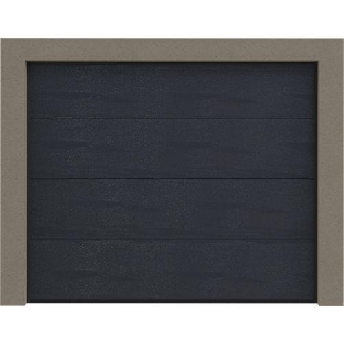 Puerta garaje seccional primo motorizada gris antracita 250x212,5 cm