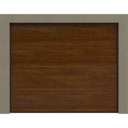 Puerta garaje seccional primo motorizada roble 250x212,5 cm