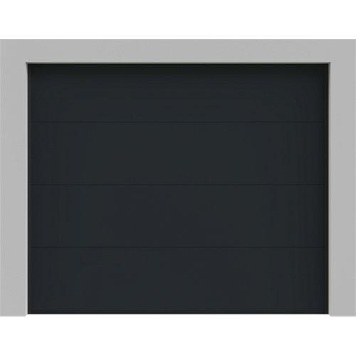 Puerta garaje seccional motorizada gris 250x212,5 cm