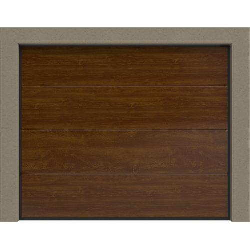 Puerta garaje seccional motorizada roble 250x212,5 cm