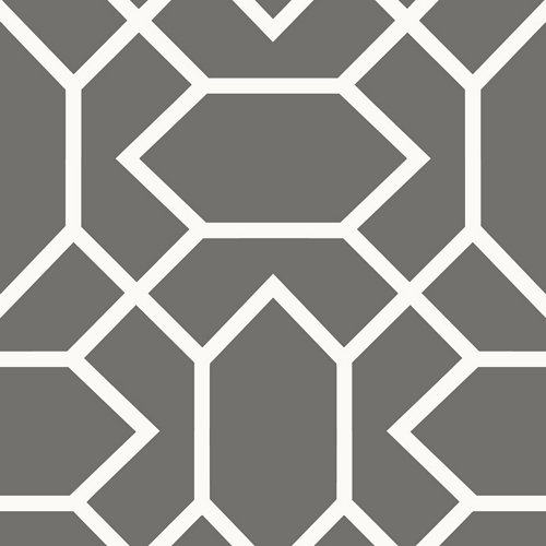 Papel pintado adhesivo geométrico gris oscuro 2,6 m²