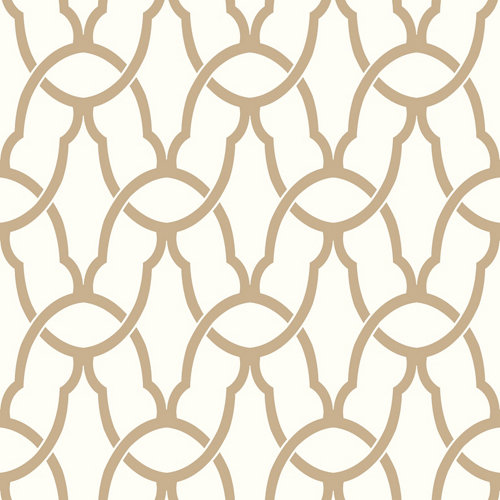 Papel pintado adhesivo geométrico oro 2,6 m²