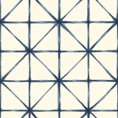 Papel pintado adhesivo moderno azul 2,6 m²
