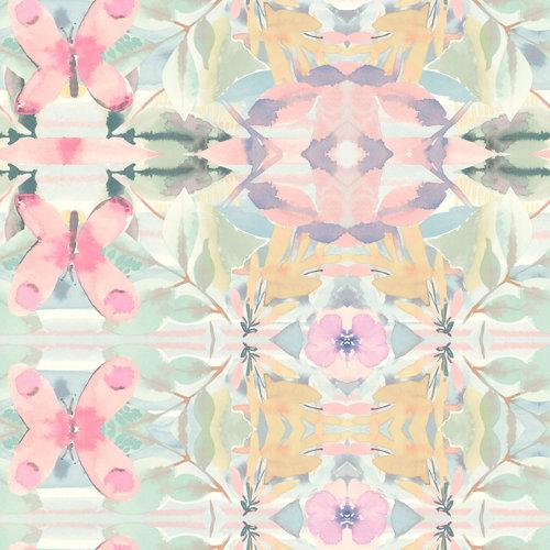 Papel pintado adhesivo floral 2,6 m²