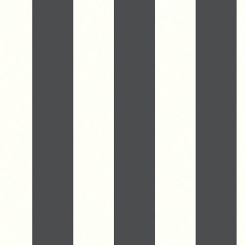 Papel pintado autoadhesivo vinílico geométrico rayas blanco negro