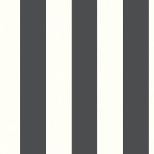 Papel pintado adhesivo raya blanco y negro 2,6 m²
