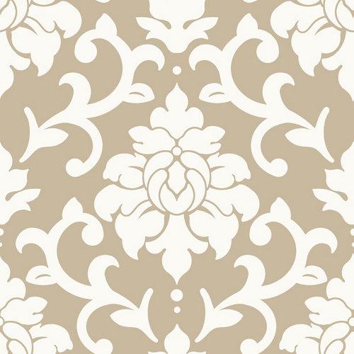 Papel pintado adhesivo damasco dorado 2,6 m²