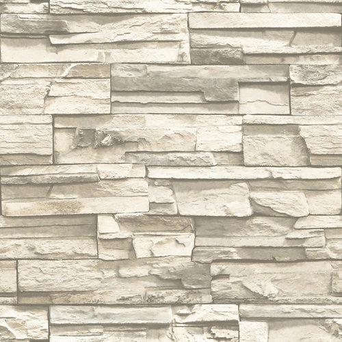 Papel pintado adhesivo piedra gris 2,6 m²