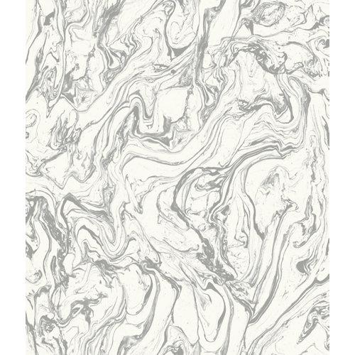 Papel pintado adhesivo mármol gris 2,6 m²