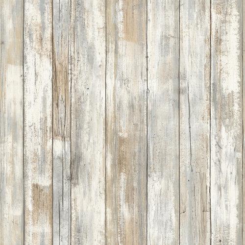 Papel pintado adhesivo tablilla blanca 2,6 m²