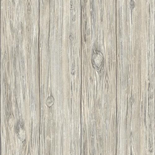 Papel pintado adhesivo madera gris 2,6 m²