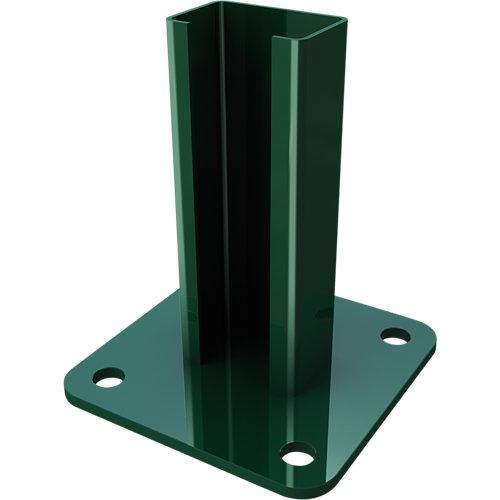 Soporte de acero hércules verde para poste