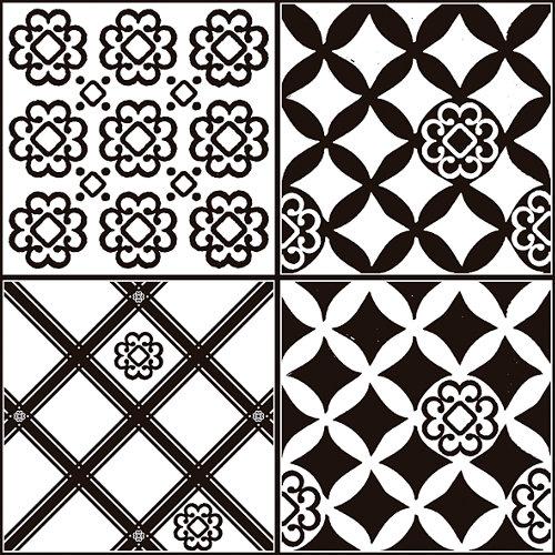 Sticker decorativo azulejos black and white