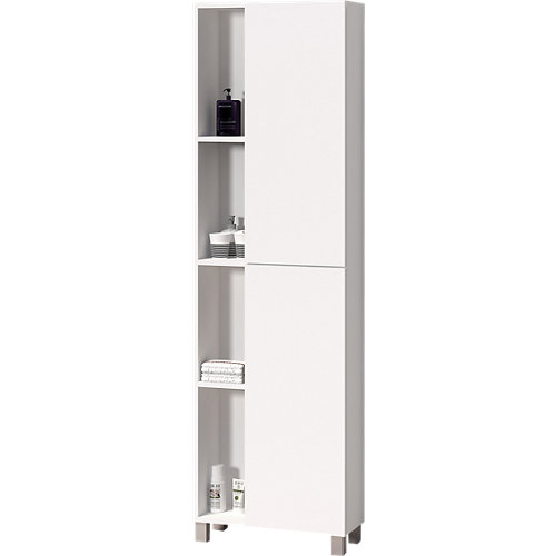 Columna de baño open blanco 55x181x25cm