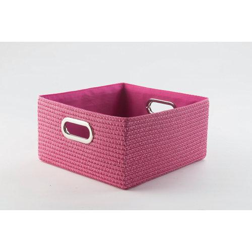 Cesta cestas rosa 32x16 cm