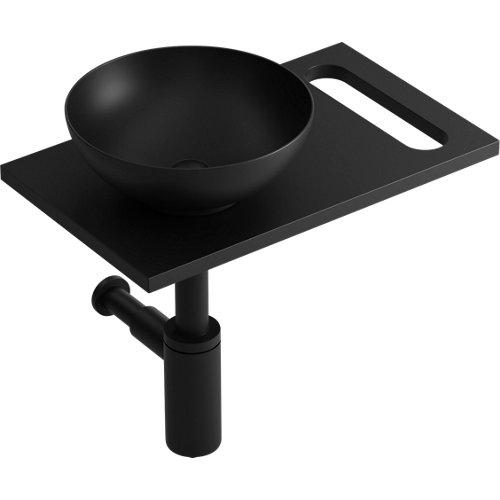 Mueble de baño con lavabo kit mini stone negro 50x30 cm