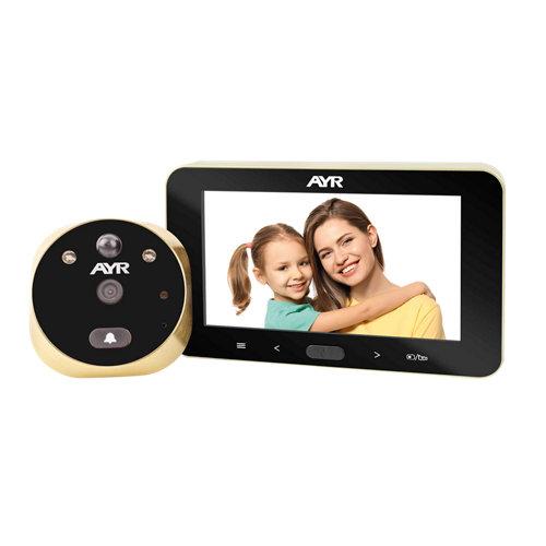 """Mirilla digital 4.5""""con pantalla lcd dorado con sistema de visión nocturna"""