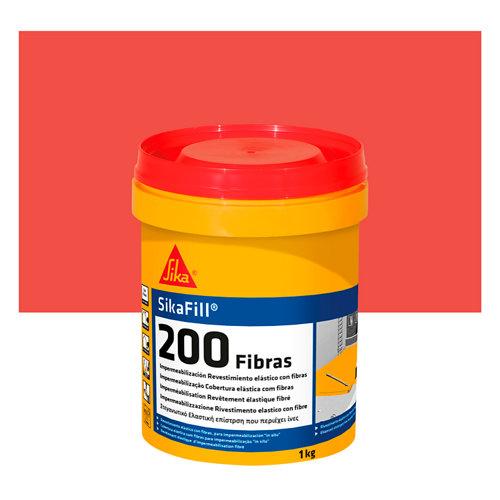Pintura impermeabilizante sikafill 200 1 kg rojo