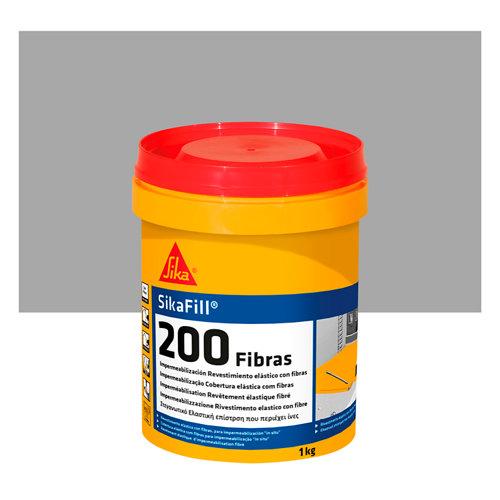 Pintura impermeabilizante sikafill 200 1 kg gris