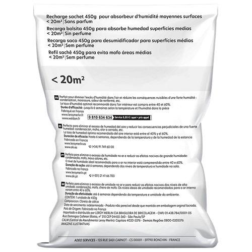 Recambio bolsa absorbente humedad equation neutro 450 gr